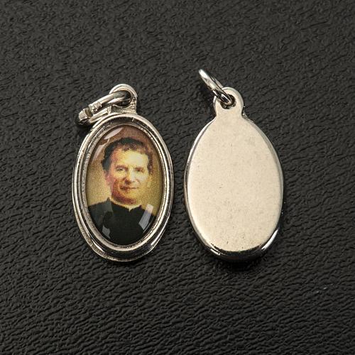 Médaille Don Bosco métal nickelé 1.5 cm 2