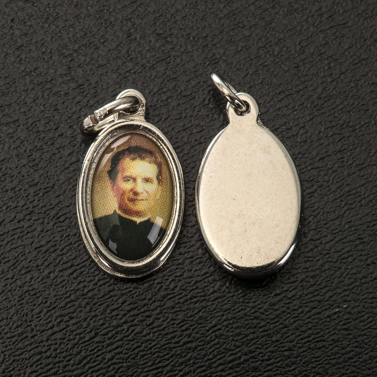 Medaglia Don Bosco metallo nichelato e bombatino h 1,5 cm 4