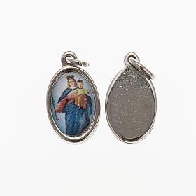 Medalla Auxiliadora metal niquelado resina 1,5x1cm s1
