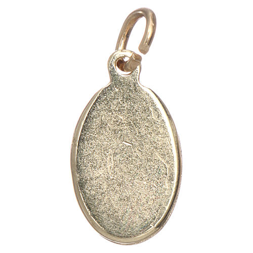 Medaglia Sacro Cuore Gesù metallo dorato resina 1,5x1 cm 2