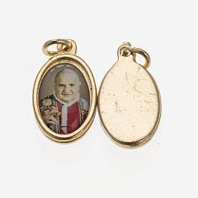 Medals: Medal Pope John Paul XXIII in golden metal and resin 1.5x1cm