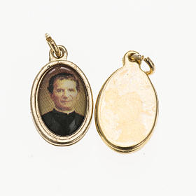 Medals: Medal Don Bosco in golden metal and resin 1.5x1cm