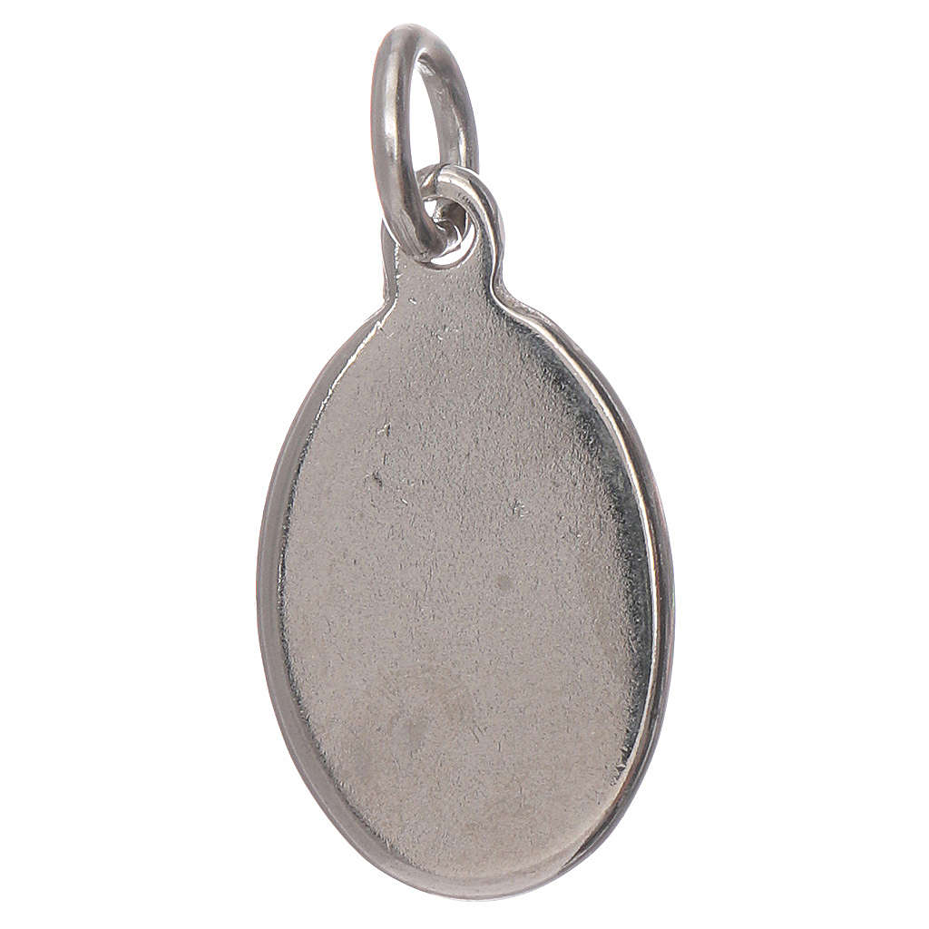 Medaglia Madonna Fatima metallo argentato resina 1,5x1 cm 4