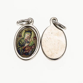 Medals: Our Lady of Perpetual Help in silver metal and resin 1.5x1cm