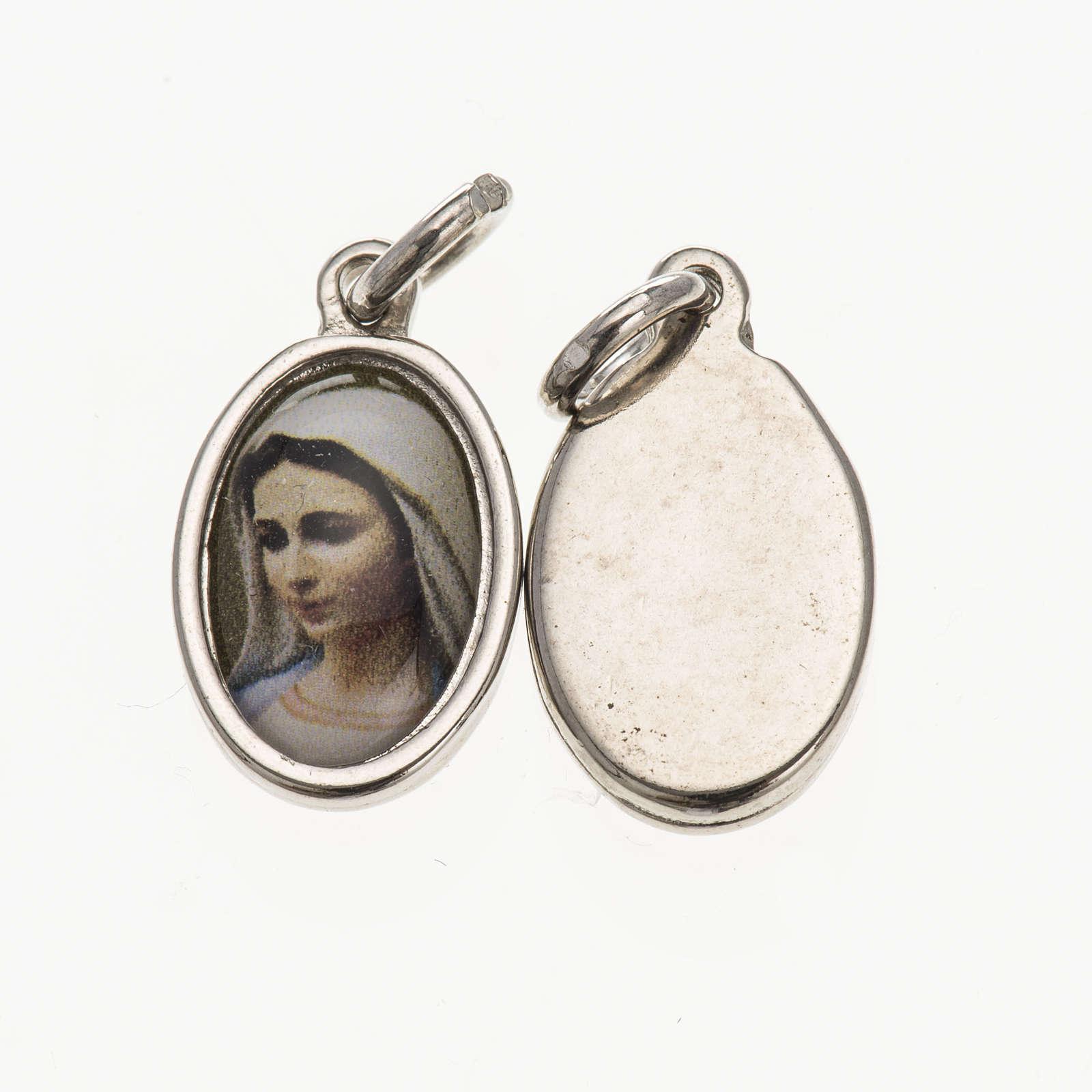 Médaille tête Vierge de Medjugorje 1,5x1 cm 4