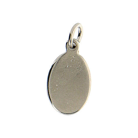 Medaglia Sacro Cuore Gesù metallo argentato resina 1,5x1 cm 2