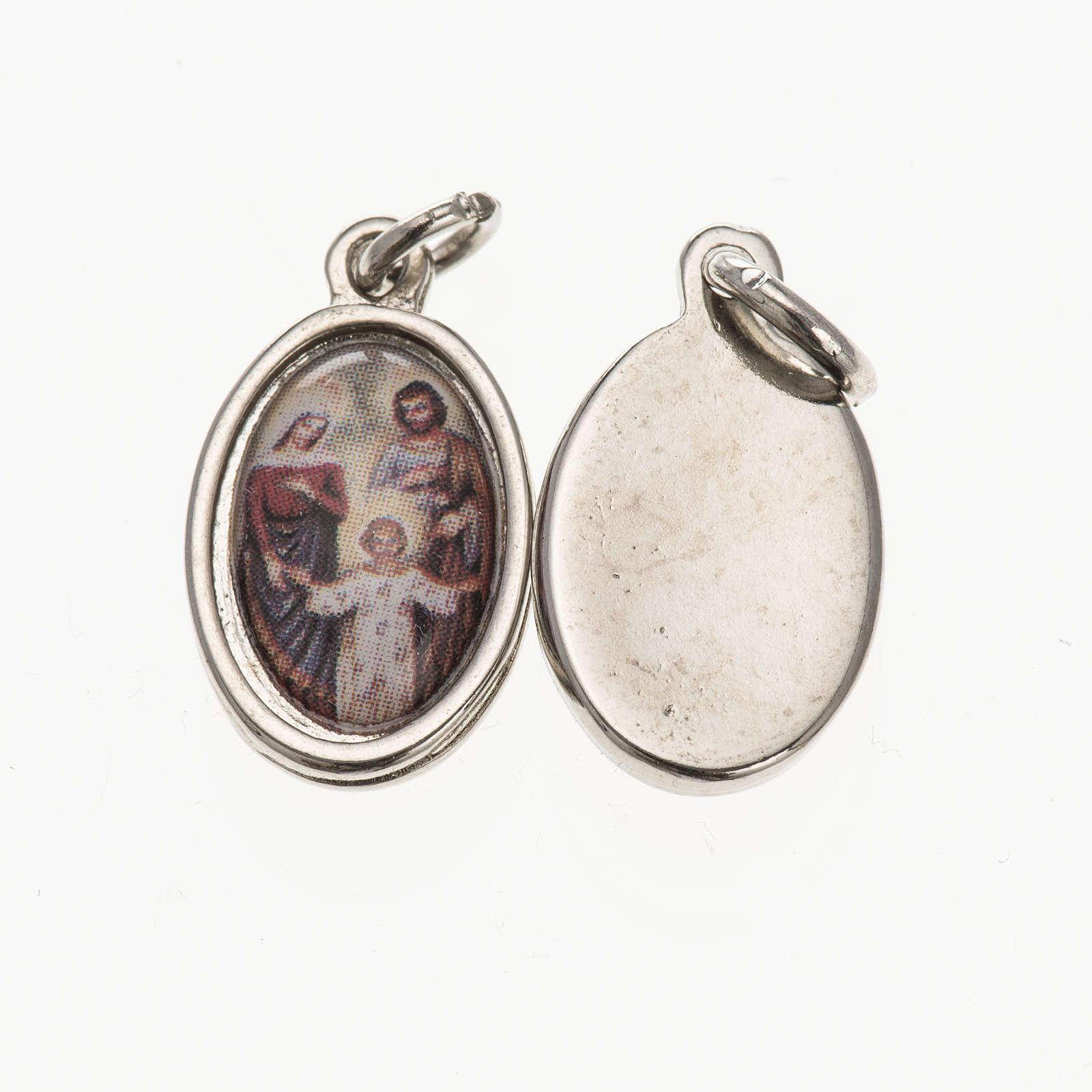 Médaille Sainte Famille métal 1,5x1 cm 4
