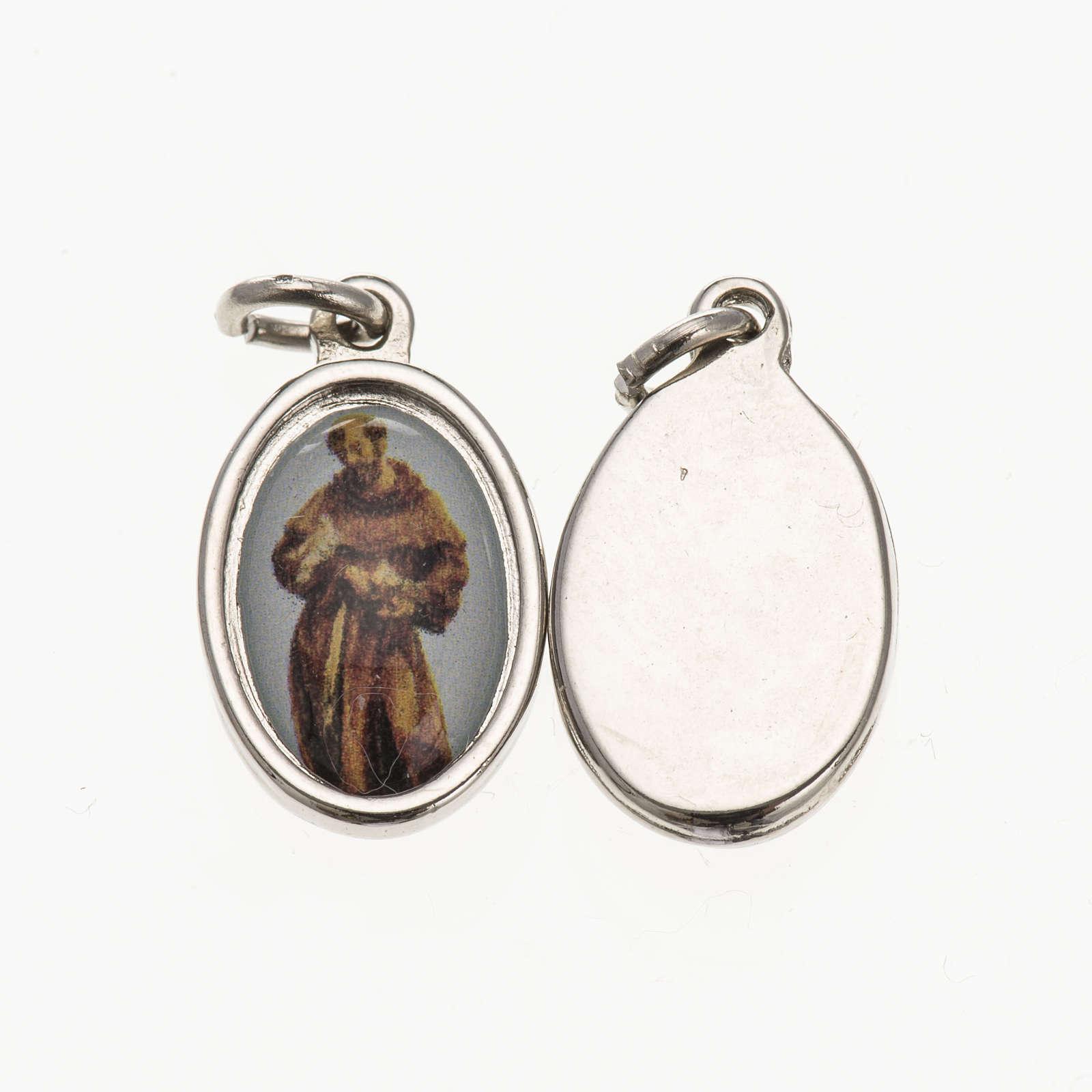 Médaille St François de Assisi argentée 1,5 4