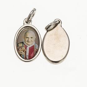Medaglia Papa Giovanni XXIII metallo argentato resina 1,5x1 cm s1