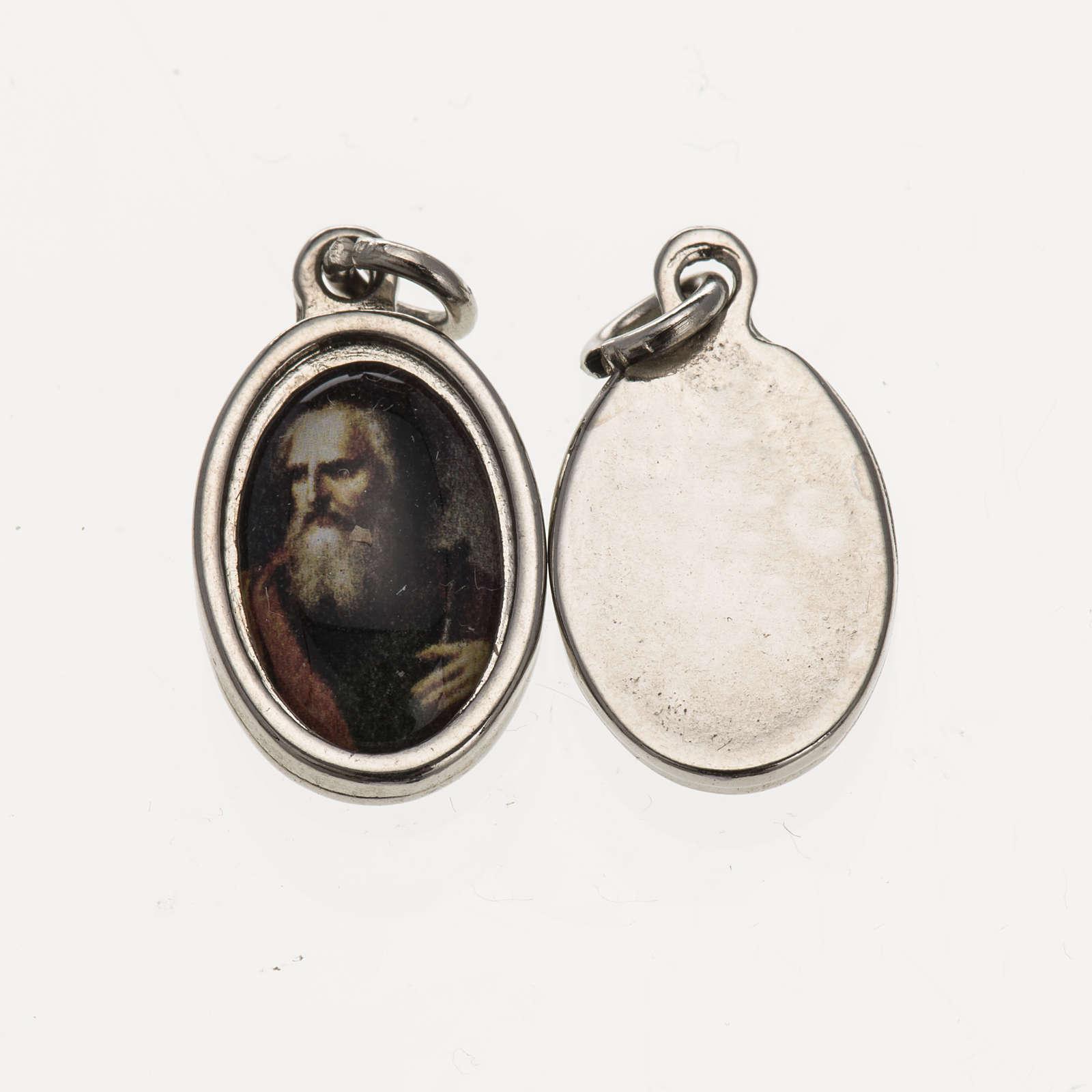 Medaglia S. Paolo volto - metallo argentato resina 1,5x1 cm 4