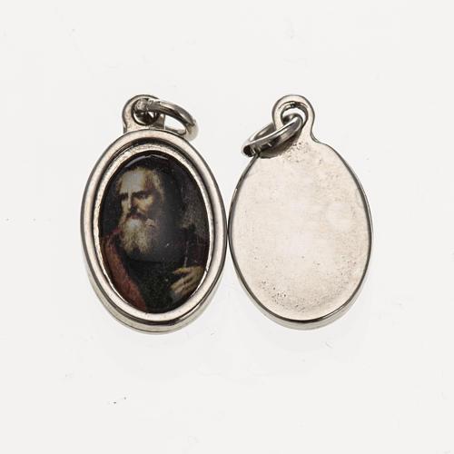 Medaglia S. Paolo volto - metallo argentato resina 1,5x1 cm 1