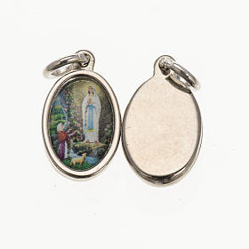 Medal in silver metal resin Our Lady of Lourdes 1.5x1cm s1
