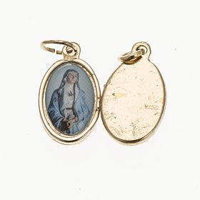 Medalla V.Dolores metal dorado resina 1,5x1cm