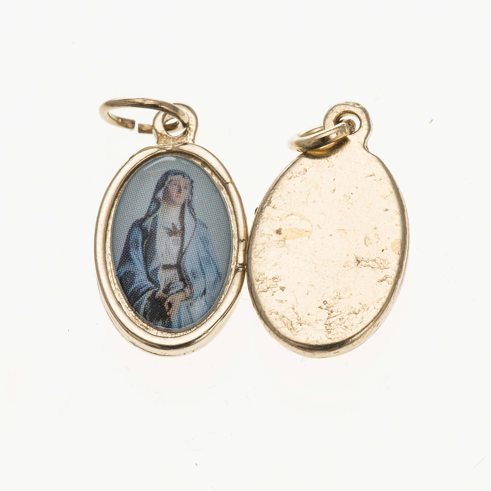 Medal in golden metal, resin Our Lady of Sorrows 1.5x1cm 4