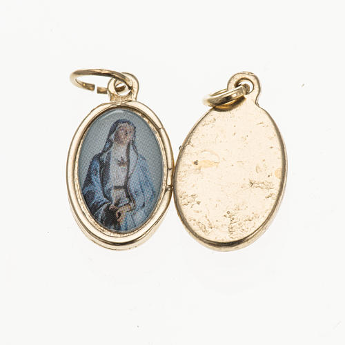 Medal in golden metal, resin Our Lady of Sorrows 1.5x1cm 1