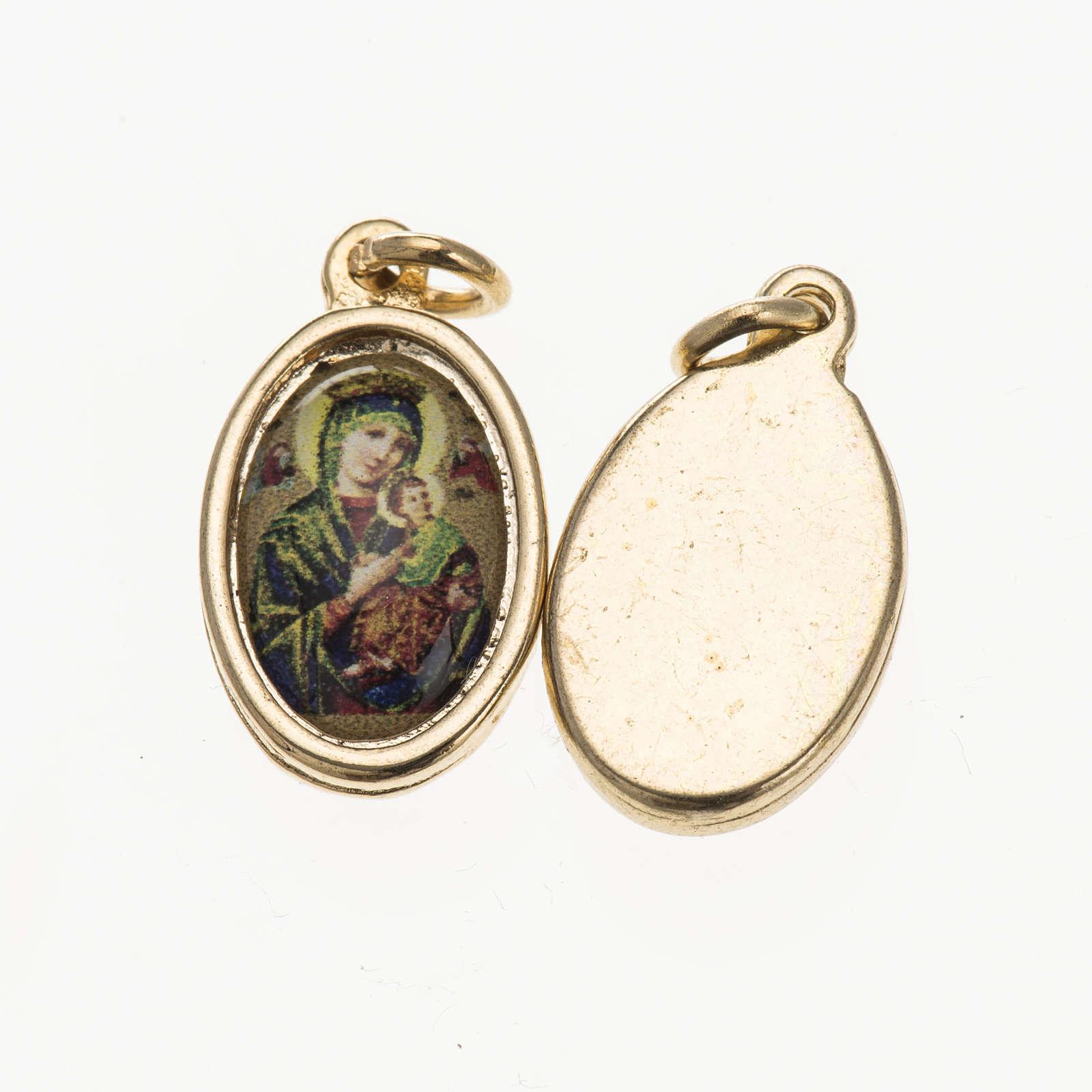 Médaille Notre Dame du Perpétue Secours doré 4