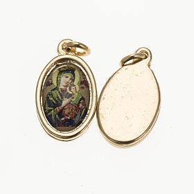 Médaille Notre Dame du Perpétue Secours doré s1