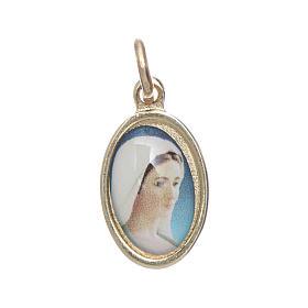 Medals: Medal in golden metal, resin Our Lady of Medjugorje 1.5x1cm