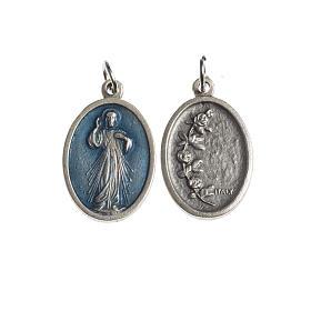 Medalla Misericordioso oval galvánica plateada esmalte az s1