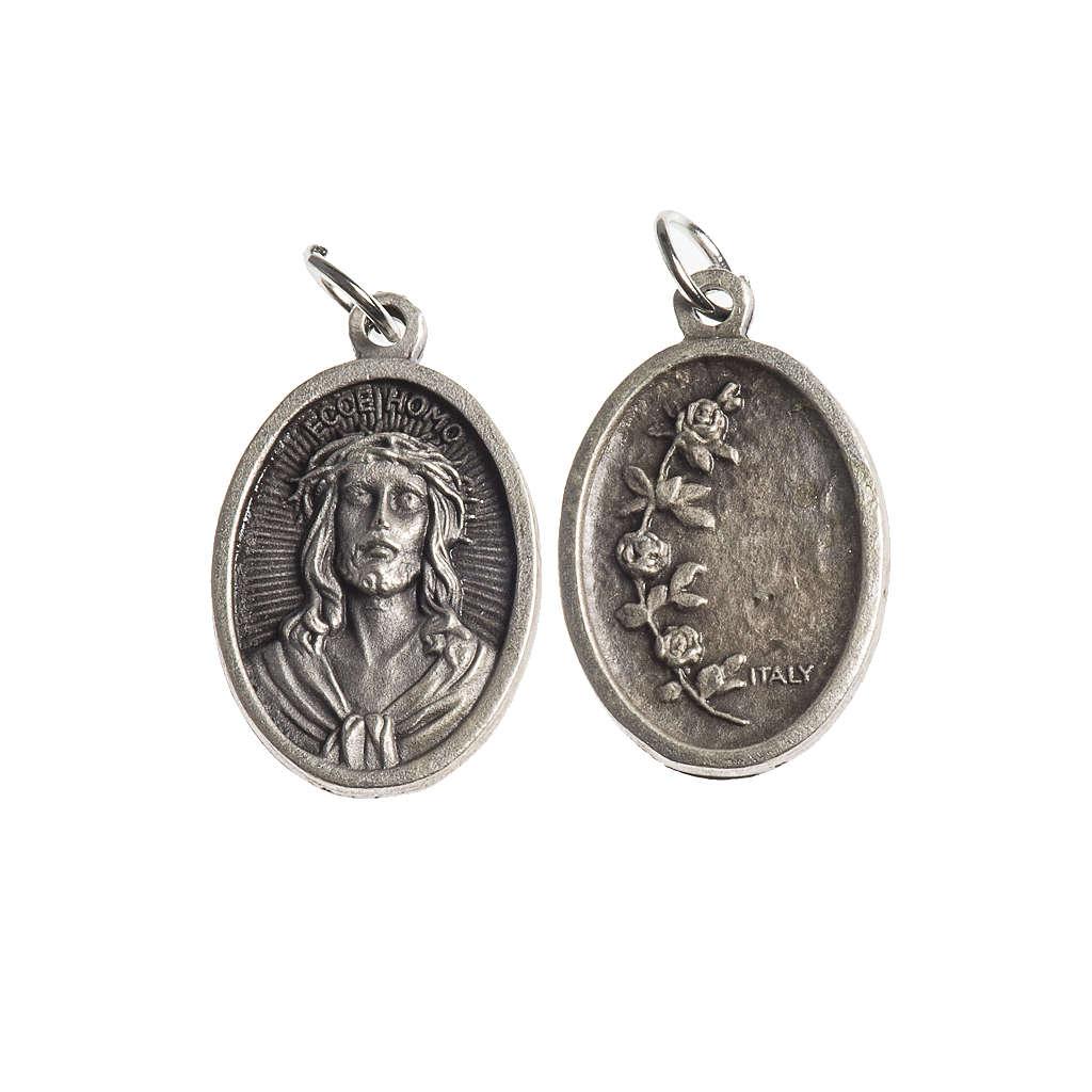 Medalla Ecce Homo oval galvánica plateado antiguo 4