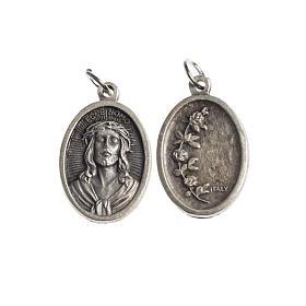 Medalla Ecce Homo oval galvánica plateado antiguo s1