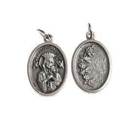 Medaglia Perpetuo Soccorso ovale galvanica argento antico s1
