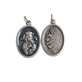 Medals: Our Lady Help of Christians medal, oval, antique silver light bl