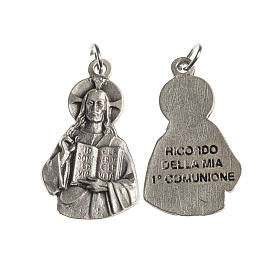 Medal with Jesus, First Communion, galvanic silver 27mm s1