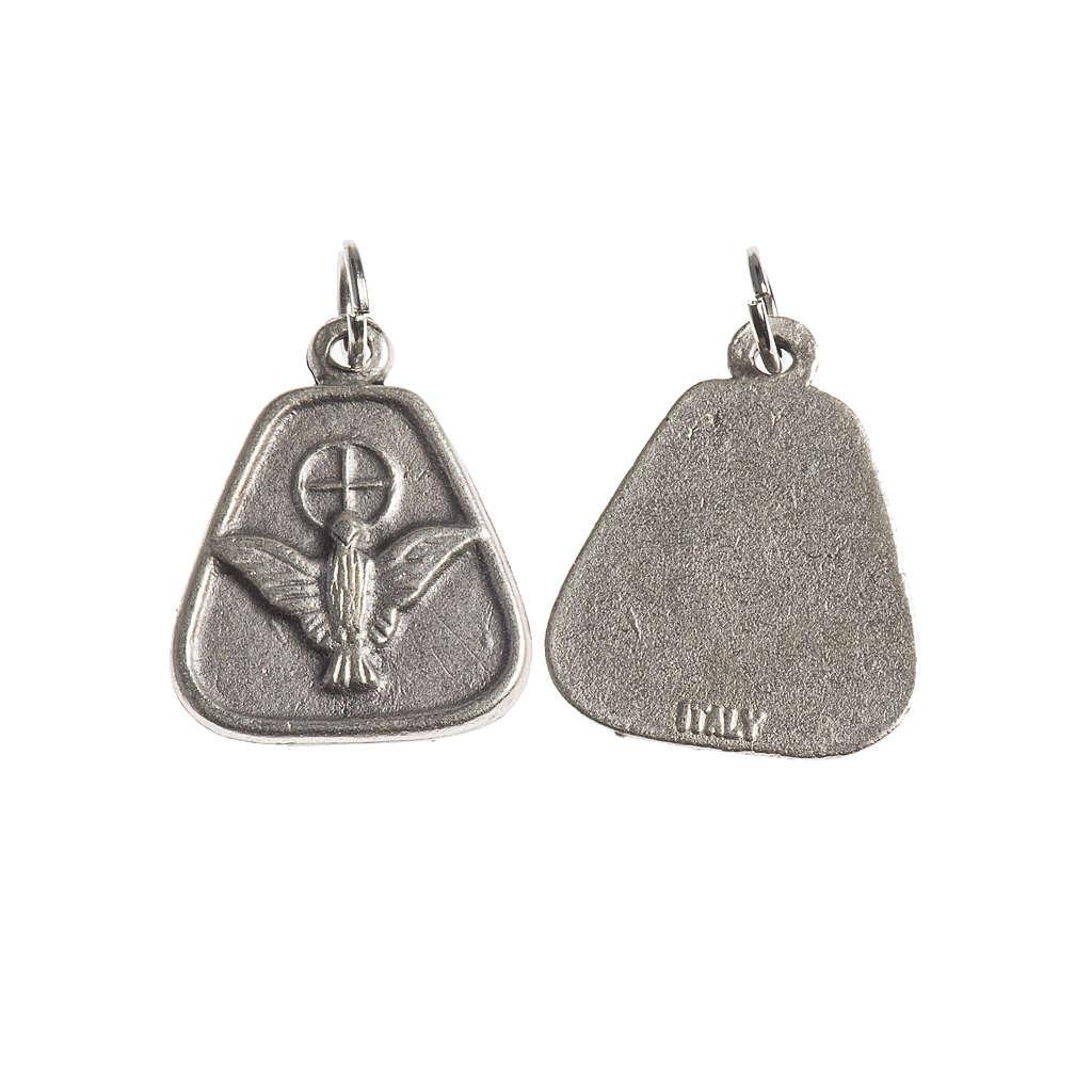 Medaglia Spirito Santo 18 mm galvanica argento antico 4