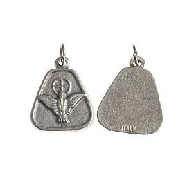 Medaglia Spirito Santo 18 mm galvanica argento antico s1