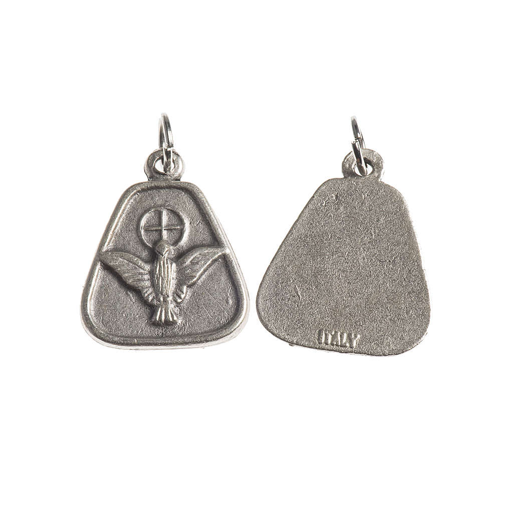 Holy Spirit medal, 18mm galvanic antique silver 4