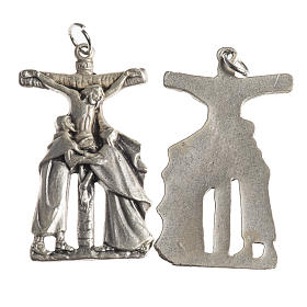 Medals: Crucifix medal, 38mm galvanic antique silver