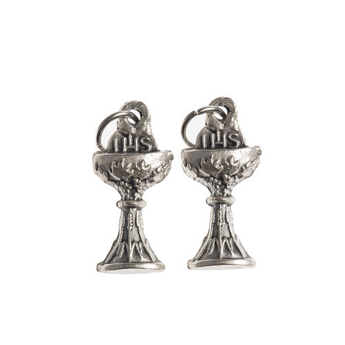 Communion medal, Chalice IHS galvanic antique silver 1