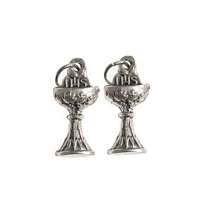 Medals: Communion medal, Chalice IHS galvanic antique silver
