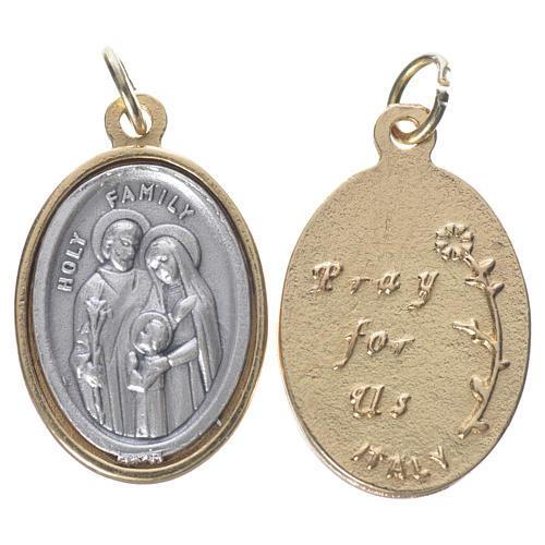 Medaglia S. Famiglia metallo dorata argentata 2,5cm 1