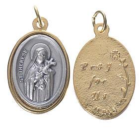 Saint Teresa silver and golden medal 2.5cm s1