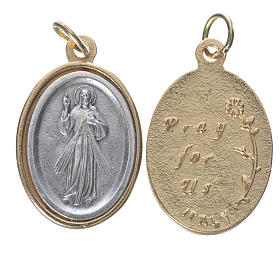 Merciful Jesus silver and golden medal 2.5cm s1
