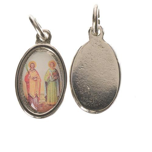 Medaglia S. Cosma Damiano metallo argentato 1,5cm 1