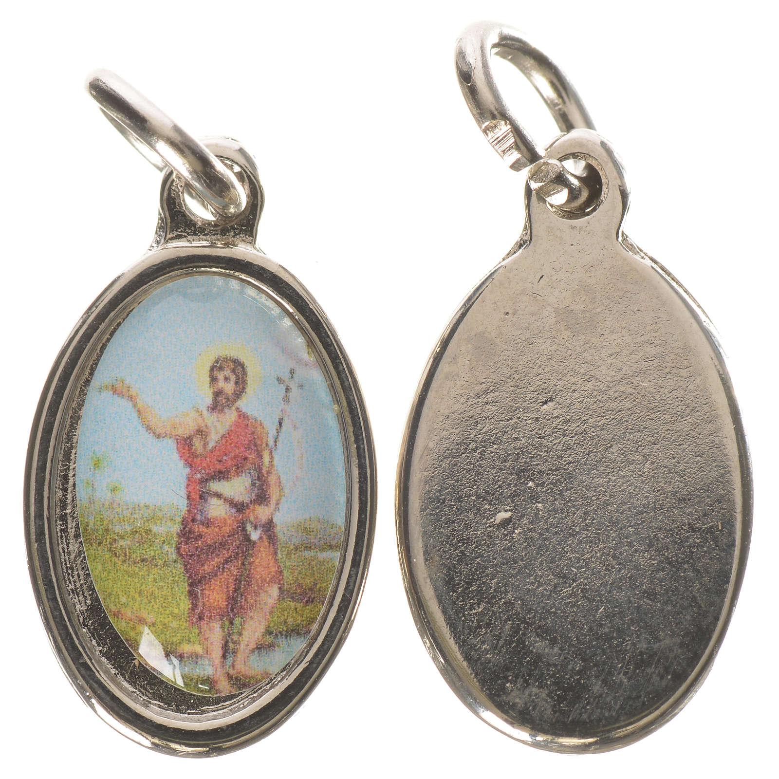 Médaille Saint Jean Baptiste métal argenté 1,5cm 4