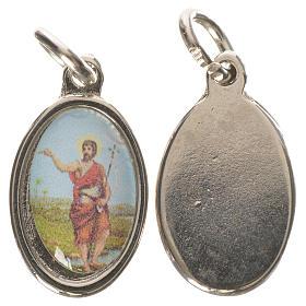 Médaille Saint Jean Baptiste métal argenté 1,5cm s1