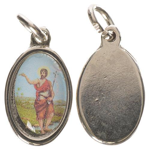 Médaille Saint Jean Baptiste métal argenté 1,5cm 1