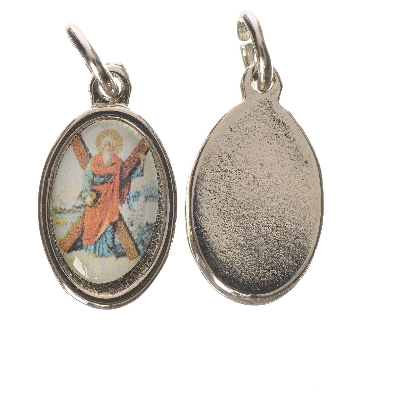 Saint Andrew medal in silver metal, 1.5cm 4