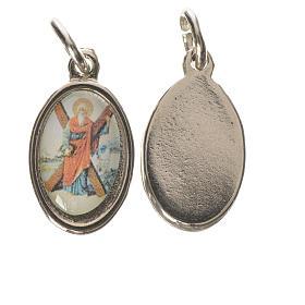 Saint Andrew medal in silver metal, 1.5cm s1