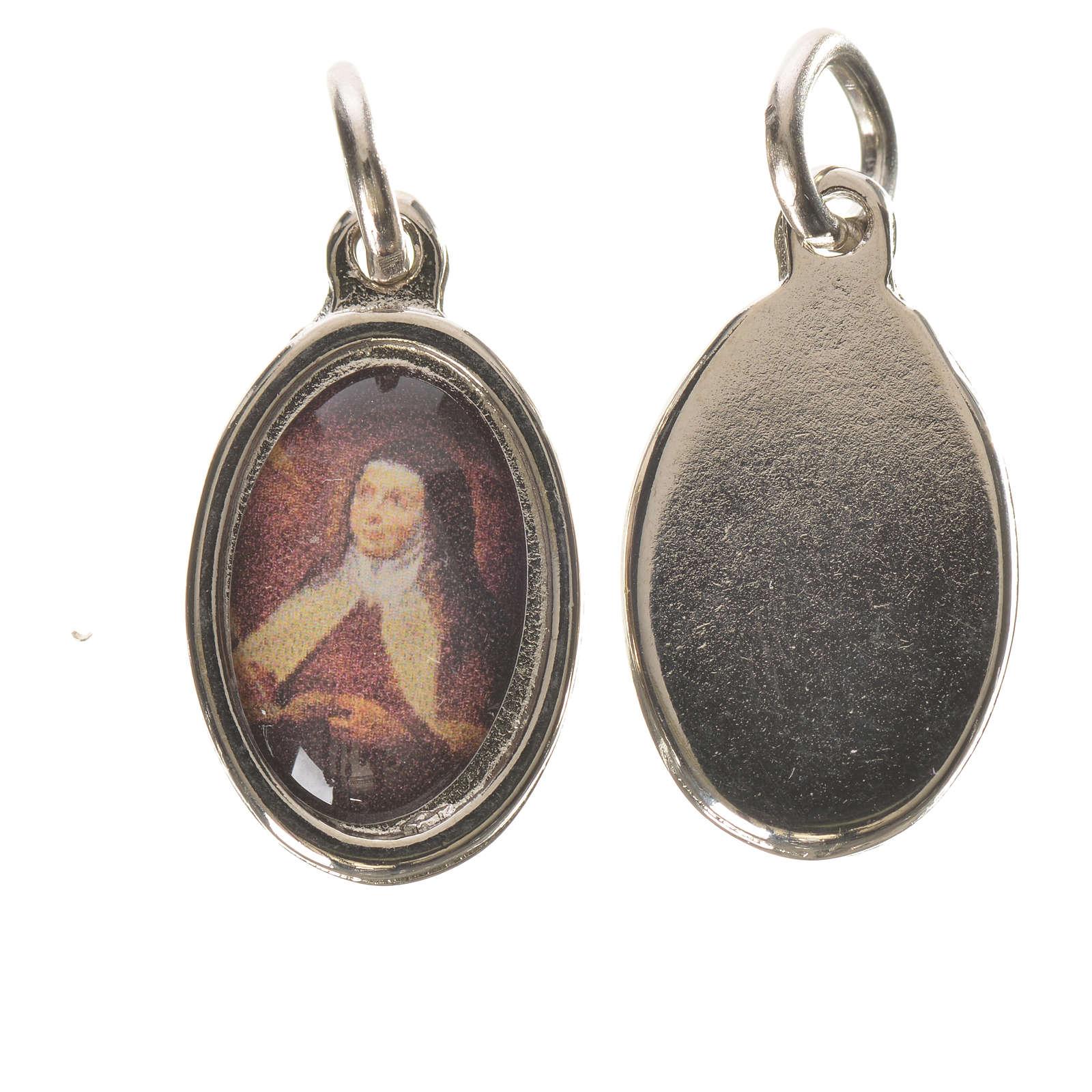 Medaglia S. Teresa Avila metallo argentato 1,5cm 4