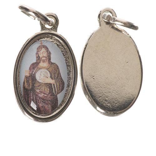 Medaglia  S. Giuda Taddeo metallo argentato 1,5cm 1