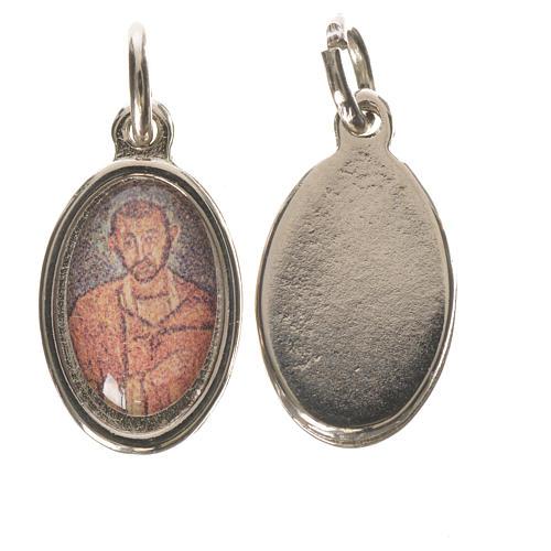 Medaglia S. Ambrogio metallo argentato 1,5cm 1