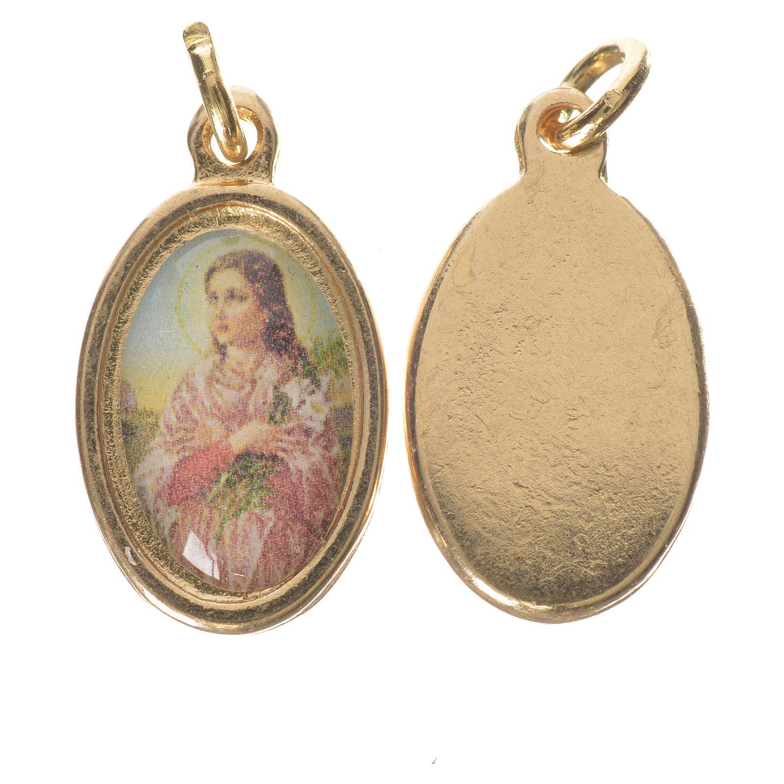 Medaglia S. Maria Goretti metallo dorato altezza 1,5cm 4