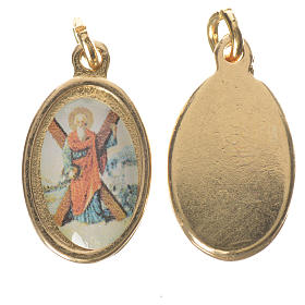 Saint Andrew medal in golden metal, 1.5cm s1