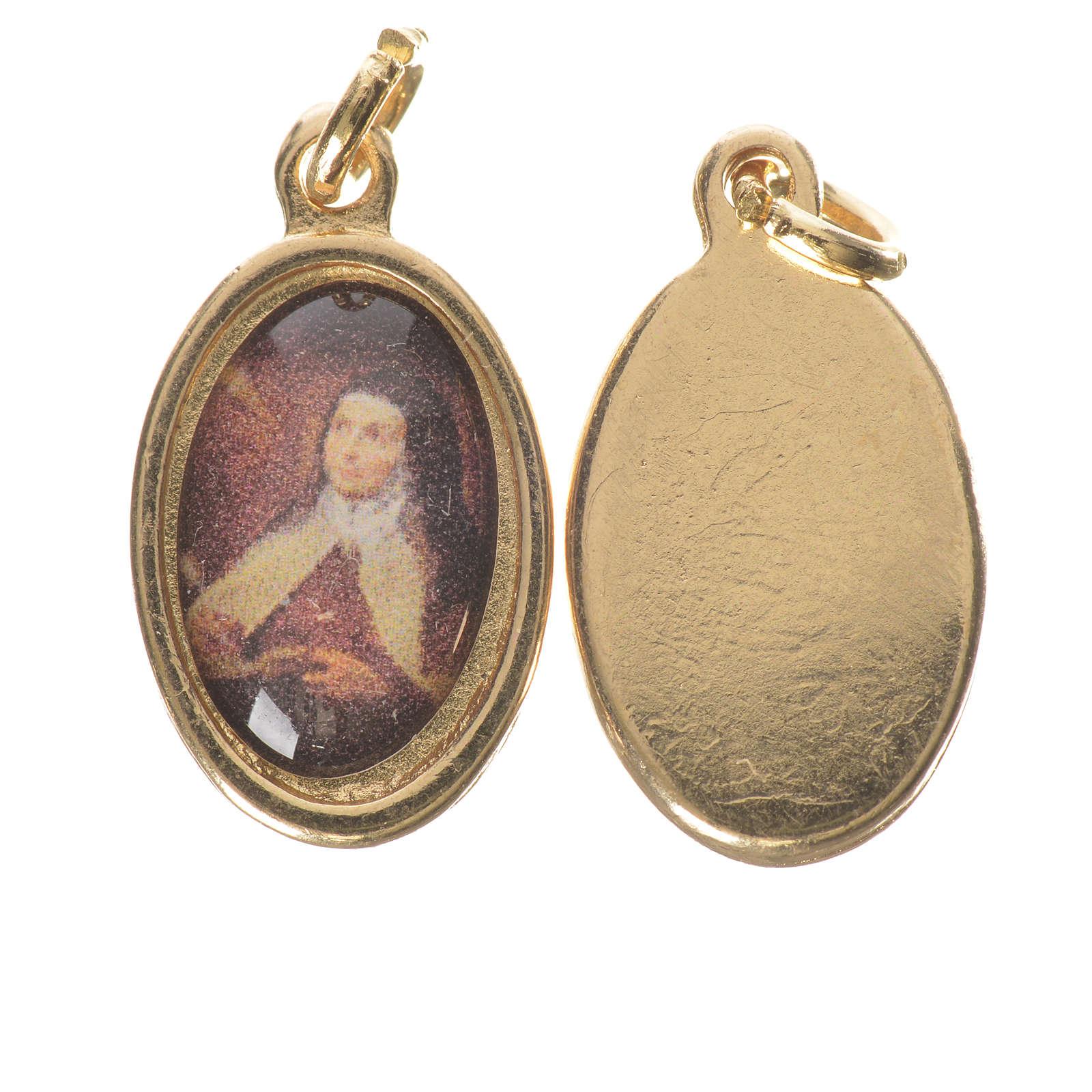 Medaglia S. Teresa Avila metallo dorato altezza 1,5cm 4