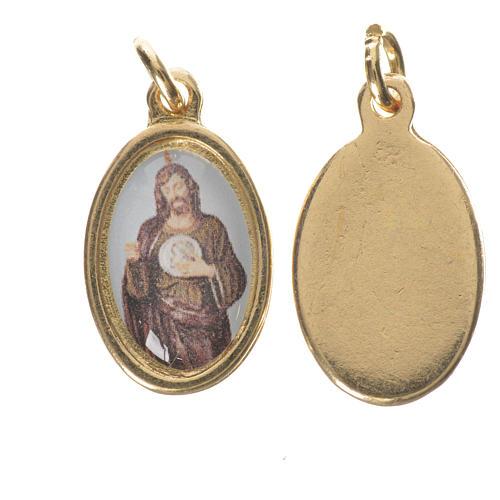 Médaille Saint Jude Thaddée métal doré 1,5cm 1